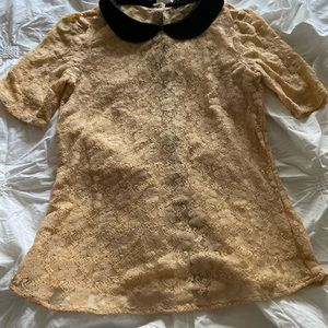 Lace  top with back buttons